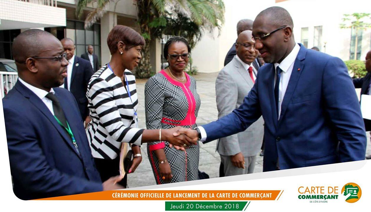 Arrivé du M. Souleymane DIARASSOUBA, Ministre du COMMERCE de l'Industrie et de la Promotion des PME