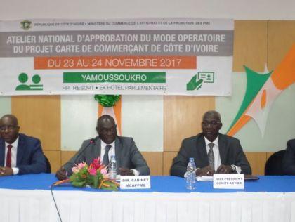 Atelier national d'approbation du mode operatoire du projet carte de commerçant de Côte d'Ivoire