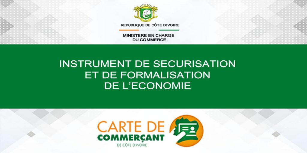 Carte de Commerçant de Côte d'Ivoire-instrument-sécurisation