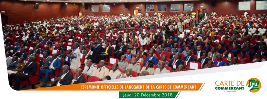 Carte de Commerçant de Côte d'Ivoire-Cérémonie-lancement