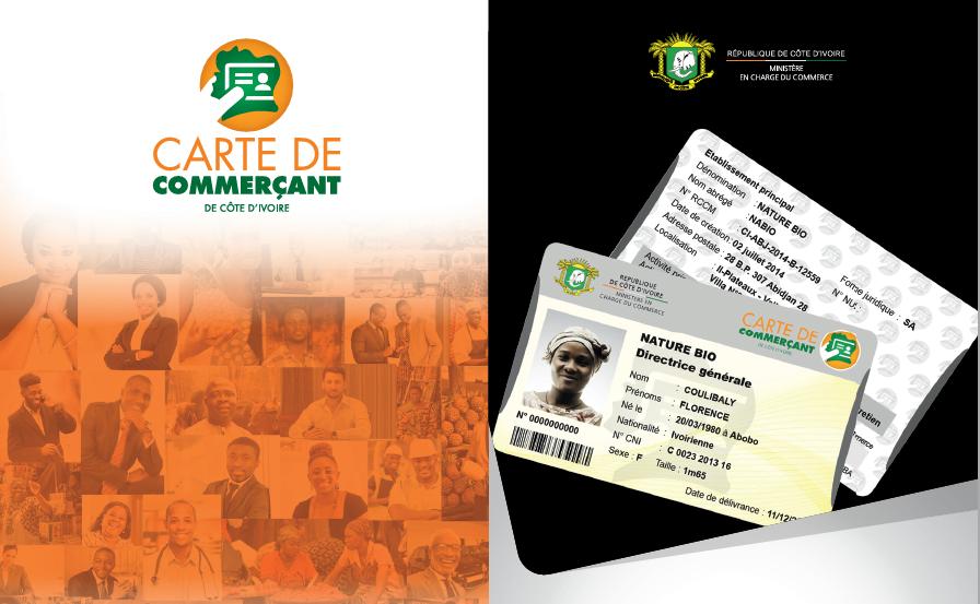 Carte de Commerçant de Côte d'Ivoire-Dépliant